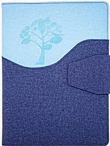 CrownLit Treeshade Jute Finish Fabric Cover New Year Diary with Button Lock 2019, Size: B5