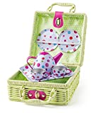 Woodyland 102191881–Cestino da picnic con Tea set–8PCS
