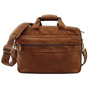7e304b3f2a STILORD 'Leopold' Grande borsa in pelle da Insegnante Professore  Portadocumenti a tracolla per Ufficio Lavoro A4 raccoglitori in cuoio Uomo  Donna trova ...