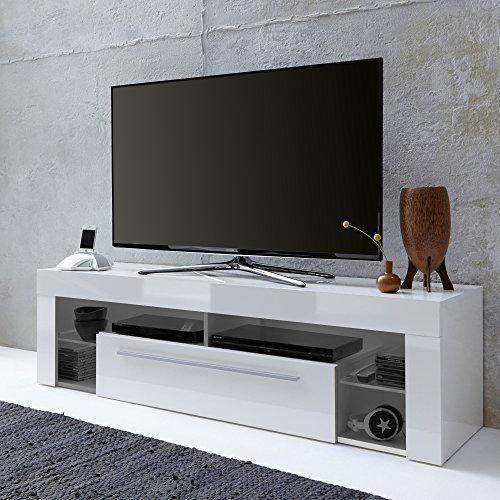 trendteam SC85001 TV Möbel Lowboard, BxHxT 153 x 44 x 44 cm, Weiss Hochglanz - 2