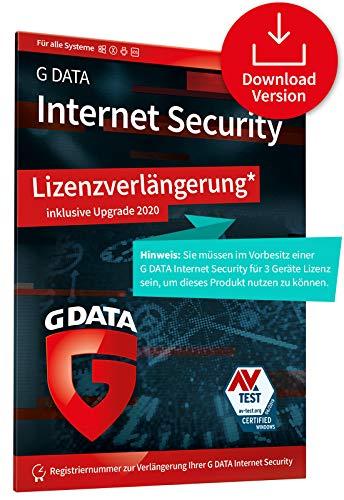 G DATA Internet Security 2020 Upgrade/Lizenzverlängerung | 3 x Geräte - 1 Jahr, Digitaler Code | PC, Mac, Android, iOS Virenschutz