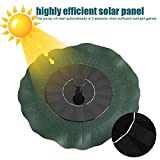 Solarbetriebene Brunnenpumpe 200L / H Solarwasserpumpe für Außenpool Gartenfischteich