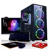 Fierce Exile RGB Gaming PC Bundeln - Schnell 4.2GHz Octa-Core AMD FX-8300, 1TB Festplatte, 8GB 1600MHz, NVIDIA GeForce GTX 1050 2GB, Tastatur (VK/QWERTY), Maus, 21.5-Zoll-Monitor, Headset 430082