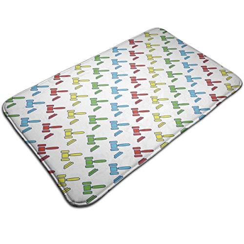 WITHY Judge Hammers Bathroom Mat Anti Slippery Door Floor Mat Indoor/Outdoor/Front Entrance Welcome Doormat(19.6X31.4 Inch,50X80cm)
