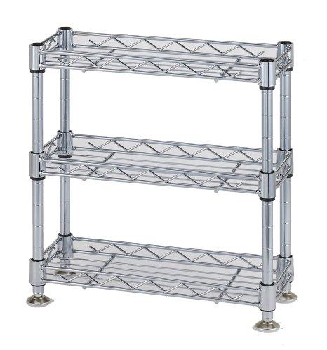Wirtschaft Rack Luminous Teilen Kompatibel Produkt Paul Durchmesser 12,7mm Mini Rack dreistufiges Breite 30~ Tiefe 12,0~ Höhe 31,5cm WA3030–3 (Mini Dish Rack)