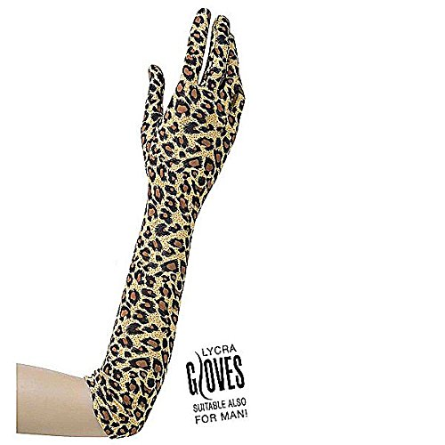 Widmann 1486L - Handschuhe in Lycra, passend auch für Männer, circa 42 (Ideen Kostüm Leopard)