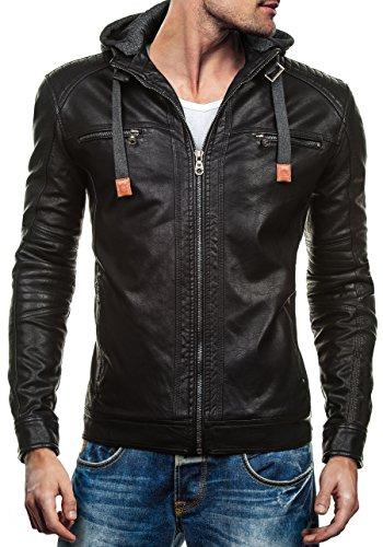 bolf-mens-jacket-leatherette-hooded-full-zip-collar-extreme-ex352-black-xl-4d4