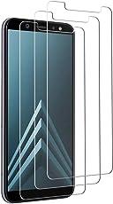 Tmoner [3 Stück] Samsung A6 2018 Panzerglas Displayschutzfolie, Full HD, Transparent Kratzfest Anti-Fingerabdruck, Keine Luftblasen, Samsung A6 2018 Hochwertige Gehärtetem Glas