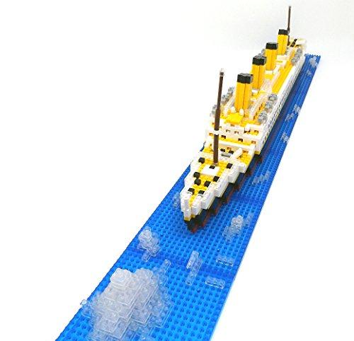 Brigamo Spiele 479 – Titanic Bausteine Schiff, 450 Teile, 60 cm lang, kompatibel mit den gängigen Marken Bausteinen - 5
