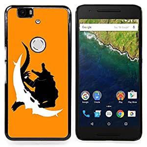 Omega Covers - Snap on Hard Back Case Cover Shell FOR HUAWEI GOOGLE NEXUS 6P - Crocodile Monster
