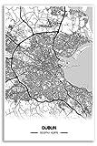 Zulumaps Poster Dublin Stadtplan - Hochwertiger Kunstdruck