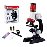 HONPHIER Microscope for Children Kids Microscope 100x 400x 1200x Magnification Microscope Kit