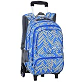 ZEVONDA Boys Girls Trolley Backpack - Rolling Wheeled Removable Travelling School Bag