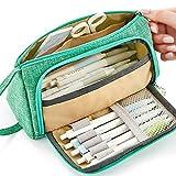 Grande capacità di matita Durable School Student portapenne organizzatore cancelleria trucco cosmetico sacchetto per ragazze, 20x 11cm Green