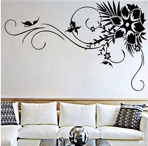 Lvabc Solide Blume Reben Muster Wandkunst Aufkleber Für Wohnzimmer Mode Wohnkultur Vinyl Aufkleber Wandbilder 42X66 Cm