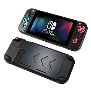 Nintendo Switch Metall-Hülle – Durovis Gaming – Hardcover Full-Body-Case aus Aluminium – Schutz-Zubehör-Set für Konsole und Joy-Cons