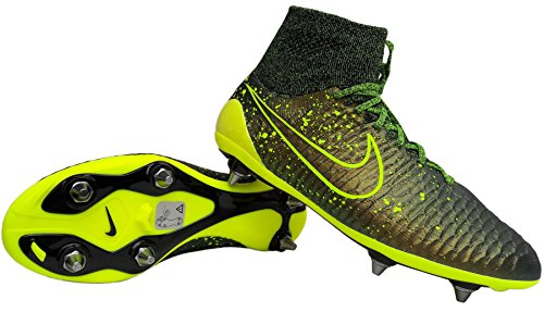 Nike Magista Obra SG, Chaussures de Football Dark Citron/Volt-Black