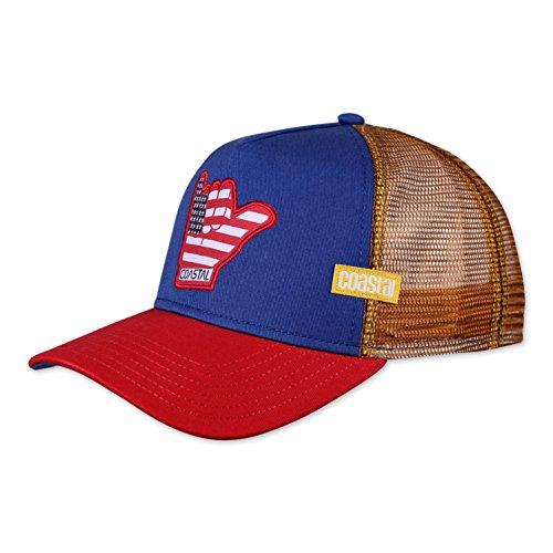 COASTAL - US Shaka (blue) - Trucker Cap Meshcap Kappe Mütze Cappy Caps