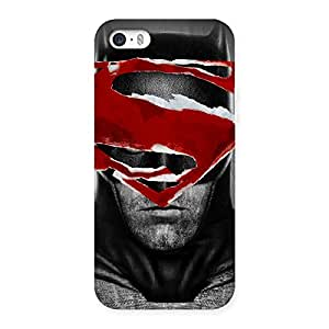 Black Red Forhead Back Case Cover for iPhone 5 5S