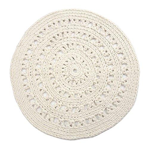 Naco comercio árabe esencial Crochet Alfombra, tamaño mediano, Off/color blanco