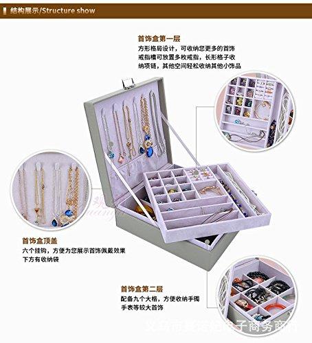 gossipboy-Premium-Eco-Piel-joyas-organizr-caja-porttil-caso-de-regalo-de-joyera-para-las-mujeres-pendientes-collar-anillo-dos-capas-de-almacenamiento-con-cerradura