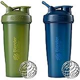 28-Ounce 2-Pack , Moss And Navy : Blender Bottle Classic Loop Top Shaker Bottle, Moss/Moss And Navy/Navy, 28-Ounce 2-Pack