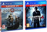 PS4 God of War (PS4) & Uncharted 4: A Thief's End Playstation Hits (PS4) - Newer