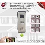 WLAN Video Türsprechanlage ALP500 - 8GB Speicher - Stromversorgung 12V Gleichspannung - Gegensprechanlage - Bewegungssensor - Türüberwachung - Anschluß an vorhandenen Türglocke - Entriegelerfunktion für vorhandenen Türöffner - kein Cloud Speicher - Auflösung HD720P - Aluminium Gehäuse - Diebstahlgesichert - 2Wege Audio Duplex - Steuerung über Smartphone / Tablet - Android und IOS App - App Entwicklung in Deutschland