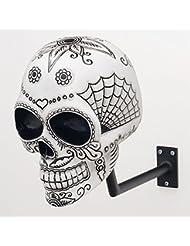 H-Skull Halterung, für Kopfhörer, Design Totenkopf.