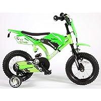 Volare Bicyclette Moto, Roues de 30cm, Roues stabilisatrices, Frein arrière par rétro-pédalage, Vert, pour garçon, 3-5Ans.