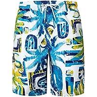 Short de Plage Imprimé pour Homme Moonuy Mens Décontracté Imprimé Poche Travail de Plage Occasionnels Rétro Patterns Pantalons courts Pantalons Shorts Men Maillot de Bain Beachwear