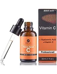 Vitamin C Serum mit 20% Vitamin C + Hyaluronsäure und vitamin E für Gesicht und Haut | Anti Falten | Anti Pickelmale und dunkle Kreise und Anti Aging Serum