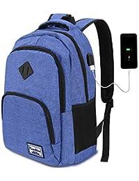 YAMTION Sac a Dos Ordinateur Portable 12-17 Pouces Homme Femme avec USB Charging Port pour Université d'affaires 35L
