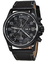 Luminox Blackout Valjoux Field - Reloj cronógrafo automático (correa de piel, sumergible 100 m)