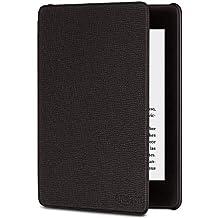 Funda yardmile.info de cuero para Kindle Paperwhite (10.ª generación - modelo de 2018), Negro