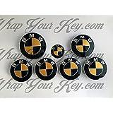 Dorado y negro brillante BMW–Emblema Insignia Overlay capucha tronco Llantas Única BMW