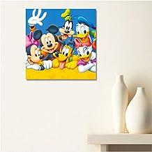 AUX Prix Canons–Cuadro lienzo de La Casa de Mickey Mouse, 19x 24cm