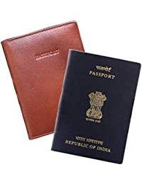 ABYS Pure Leather Compact & Slim Passport Case||Passport Cover||Passport Wallet for Men & Women