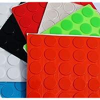 Simply the Best Grande 3 M Pies de goma Bumpons tapones ~ 20 mm de diámetro x 2 mm altura ~ negro, transparente, color blanco, azul, verde, rojo, naranja, ...