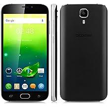 """Doogee X9 Pro - Smartphone libre 4G LTE (Pantalla 5.5"""", Android 6.0, 16GB ROM, 2GB RAM, Camara 8.0MP, Quad-Core, Lector de huellas dactilares, Dual SIM), Negro"""