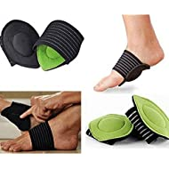 Aolvo Midfoot Arch Support Brace - Thick Cushioned Arch Support with More Padded Comfort for Plantar Fasciitis, Aching, Flat and Painful Feet Pain Relief & Sore - 1 Pair (For Men and Women)