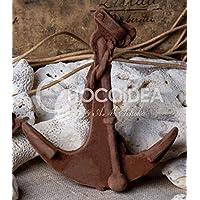 Choco Ancla/Choco Anchor, 100% artesanal, hecha a mano con chocolate fino belga Barry Callebaut (29g) 9,5 x 8,2.
