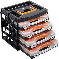 Sortimentskoffer Sortimentskasten mit 4 Organizern - 56100