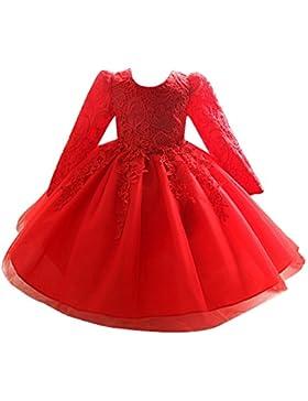 Niñas Princesa Vestidos de manga larga de Fiesta de Cóctel Organza Swing Vestido