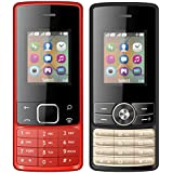 I KALL 1.8 Inch (4.57 Cm) Dual Sim Feature Phone Combo - K20 (Red) And K24 (Black)