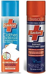 Savlon Cloth Spray (230 ml) and Surface Disinfectant Spray (230 ml)