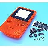 Xinkaize High Quality New Clear Orange Color Case Housing&Screen para Nintendo Game Boy Color GBC