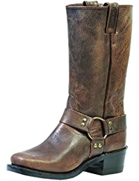 Botas de los EE.UU.-Botas de motard-BO 1072-60-C (pie normal), diseño de mujer, color marrón