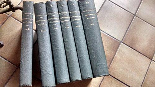 Nouveau Dictionnaire National Ou Dictionnaire Universel De La Langue Française - Complet 6 Volumes. 3eme édition augmentée,sd (fin 19è)