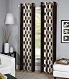 #9: Exporthub Brown Color Fancy Designer 2 Piece Eyelet Door Curtains - 4 x 7 Feet, (EHSPR549_74)